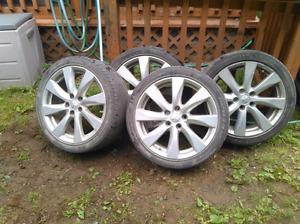 "18"" Mitsubishi 5x114.3 aluminum wheels"