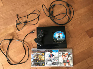 PS3 – Wires, Controller and Games (FIFA16, NBA2k13 and more)