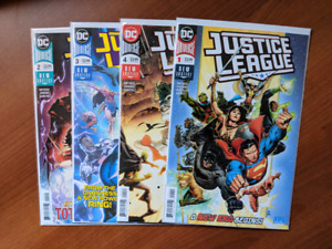 JUSTICE LEAGUE #1-4 NM/NM+ 2018 SCOTT SNYDER CHEUNG