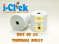 Thermal Paper EPOS System Printer Receipt Kitchen Till Rolls 80 x 80 Ink Just Eat Credit Card Roll