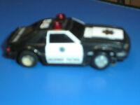 VINTAGE 1980`S TYCO FORD MUSTANG POLICE SLOT CAR