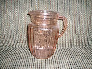 "Pink ""Mayfair"" Depression Glass 60oz Pitcher"