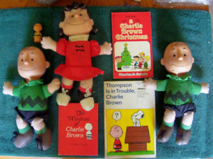 Peanuts McDonald's 1993 Lucy and Charlie Brown plush doll