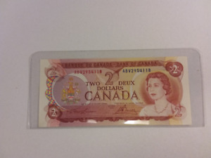 """1974 ,2 Dollar Paper Banknote """"Uncirculated"""""""