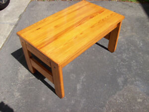 Coffee table, solid wood, pine, $ 90