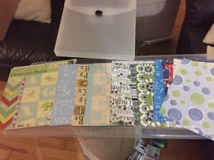 Scrapbooking Paper - baby boy themed with case