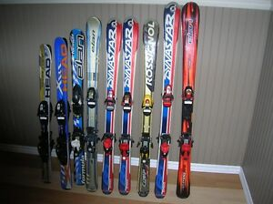ENSEMBLE  SKIS ALPINS JUNIOR 100CM-110CM-120CM-130CM