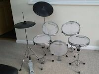 Dragon Practice Drum Kit with Mesh Heads Cymbals and Kick Pedal