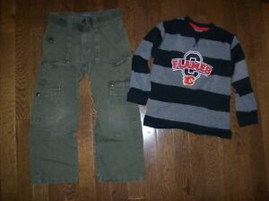 Calgary Flames Top & Old Navy Pant, Size 5T