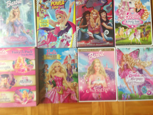 Lot de 9 DVD Barbie