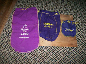 3 Old Crown Royal Bags Windsor Region Ontario image 1