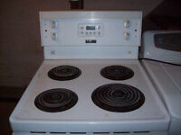 White Frigidaire Stove Electric