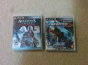 PS3 Assassin's Creed Revelations and Uncharted 2