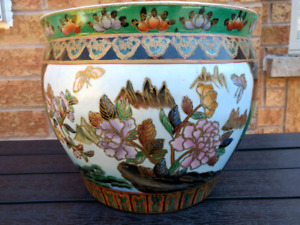 Oriental Fish Pond Ceramic Plant Vase