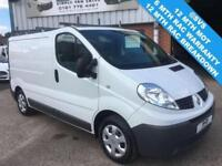 2012 12 RENAULT TRAFIC SWB LOW ROOF LOW 57K MILESM, FSH, AIR CON, SAT NAV @ SVS