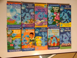 10 Blue Clues VHS Video Tapes