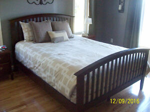Queen size Comforter with pillow shams and 3 pillows