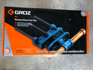 """Groz 7"""" Front Vise for Work Benches"""