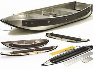 Instaboat Fisherman Aluminum Portable Boat + Bimini Top + Wooden