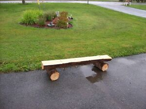 CEDAR BENCHES AND PICNIC TABLE