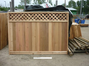 6x8 cedar fence panels from $55!Installs,Sheds,Lumber! MUCH MORE