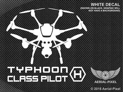 Yuneec Typhoon H Class Pilot Window / Case Decal Sticker UAV Drone ST16 CGO3+