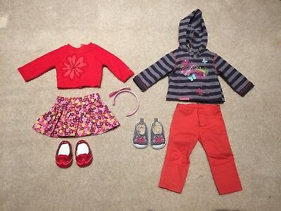 American Girl - Striped Hoodie & Flower Sweater Outfits