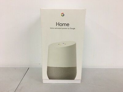 Google Home   White Slate Voice  Activated Speaker New Open Box Free Shipping