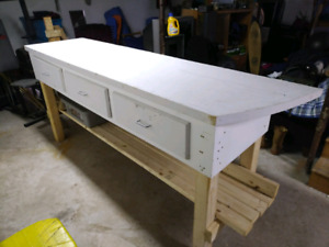 Work Bench 8X2 ft.  42inch height