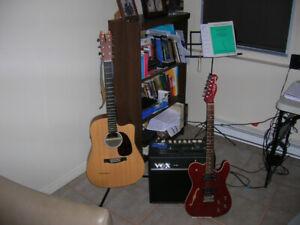 Guitares  + ampli VOX a vendre
