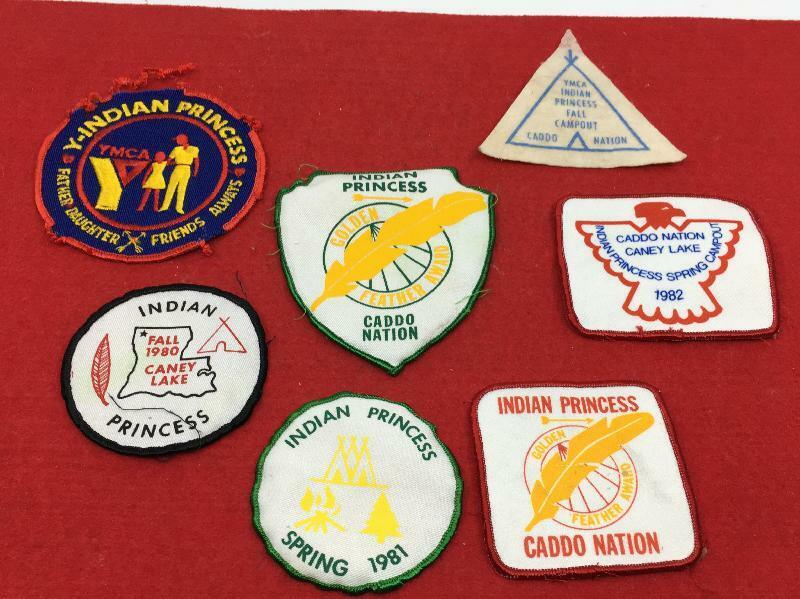 LOT (7) VINTAGE INDIAN PRINCESS PATCHES YMCA CADDO NATION