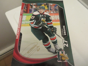 3 Halifax Mooseheads Autographed Posters-Hischier-Ehlers-Drouin