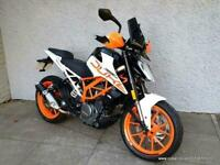 KTM 390 Duke screen, tail tidy and hand guards fitted