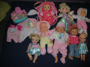 Plush Dolls Lot of 8