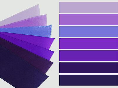 3-yd 1.5 inch SATIN ribbon plum purple concord pastel lilac lavender grape trim ()