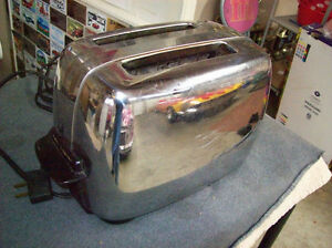 GENERAL ELECTRIC CHROME TOASTER