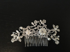 Jewel and Pearl Hair Piece (used in wedding up-do)