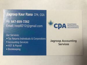 Accounting, Personal and Corporate tax return