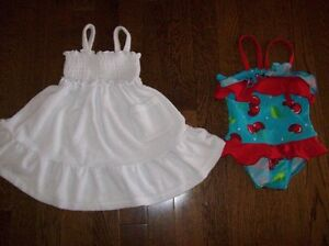 Toddler Swimsuit & Cover-Up, Size 12-18 months