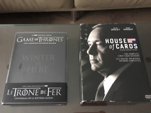 Coffrets DVD Séries House of Cards season 1 à 4 et Game of th