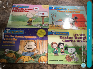 Lot of 4 brand new CHARLIE BROWN PEANUTS books