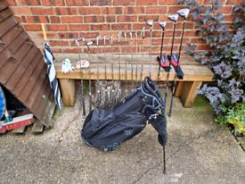 Dunlop Tour TP11 Golf Clubs with New Wilson Staff Light Stand Bag
