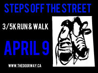 Steps off the Street 3/5 K Charity Run and Walk - supports youth