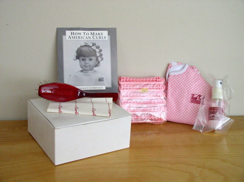 Vintage Pleasant Company American Girl Hair Care Kit Hairbrush Curlers Cape 100%