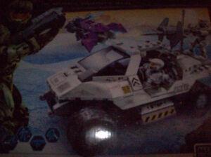 LEGO HALO MEGA BLOKS UNSC ROCKET WARTHOG SET