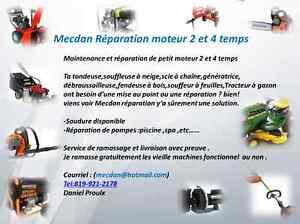 Mecdan Réparation de petit moteur 2 et 4 temps Gatineau Ottawa / Gatineau Area image 1