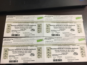 Moncton Wildcats Tickets for Saturday @ 4:30pm