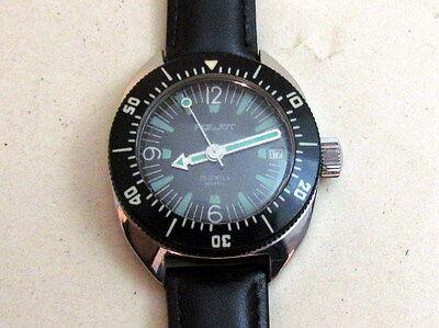 POLJOT Amphibian Automatic Steiless Steel USSR Vintage Wristwatch 23 jewels RARE