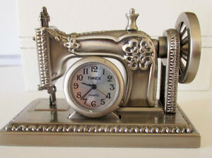 Timex Collectible Mini Sewing Machine Clock