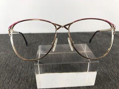 Vintage 80s Cheryl Tiegs By Welling Eyewear 69 53-15 125 Gold/Pink 436